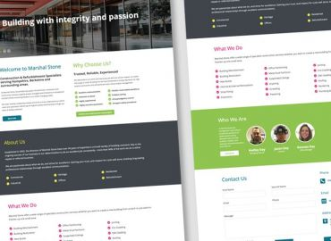 Web Design for Marshal Stone