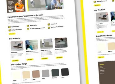 Web Design for Weber Saint Gobain