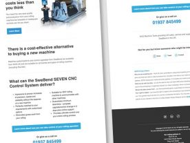 Email Design for WJSUK Machine Tools